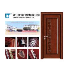 Porte en bois de MDF de porte de placage d'entrée (LTS-311)