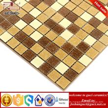 China Fabrik Versorgung gelb gemischt Hot - schmelzen Mosaik Badezimmer Boden Wandfliese