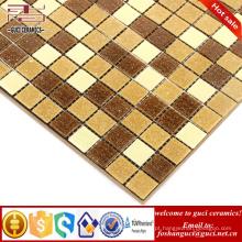 China fábrica fornecimento amarelo misturado Hot-derreter mosaico banheiro piso parede telha