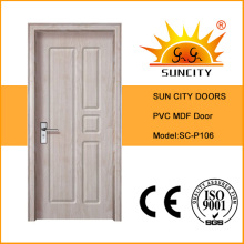 Swing Open Style and Finished Surface Finishing PVC Door (SC-P106)