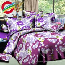 fabric reactive textile check printed bed sheet set