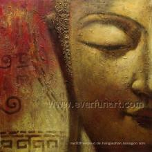 Wand Dekor Handmde Buddha Ölgemälde (BU-023)