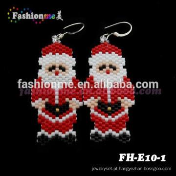 Fashionme joias artesanais Natal frisado brincos
