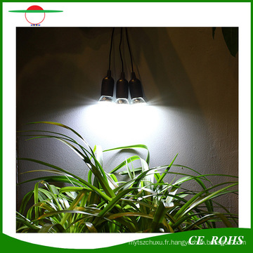 Système d'éclairage solaire portatif extérieur ou intérieur portatif de 4W avec trois ampoules de LED pour la pêche de camping et d'autres activités de plein air