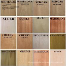 Chapa de madera de ingeniería / artificial / reconstituida