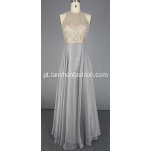 Silver Bling Beading Prom Dress