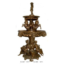 Outdoor Bronze Water Garden Fountain With Ladies