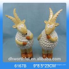Творческая керамическая фигурка овец, керамическое овечье украшение, керамическая статуэтка овец