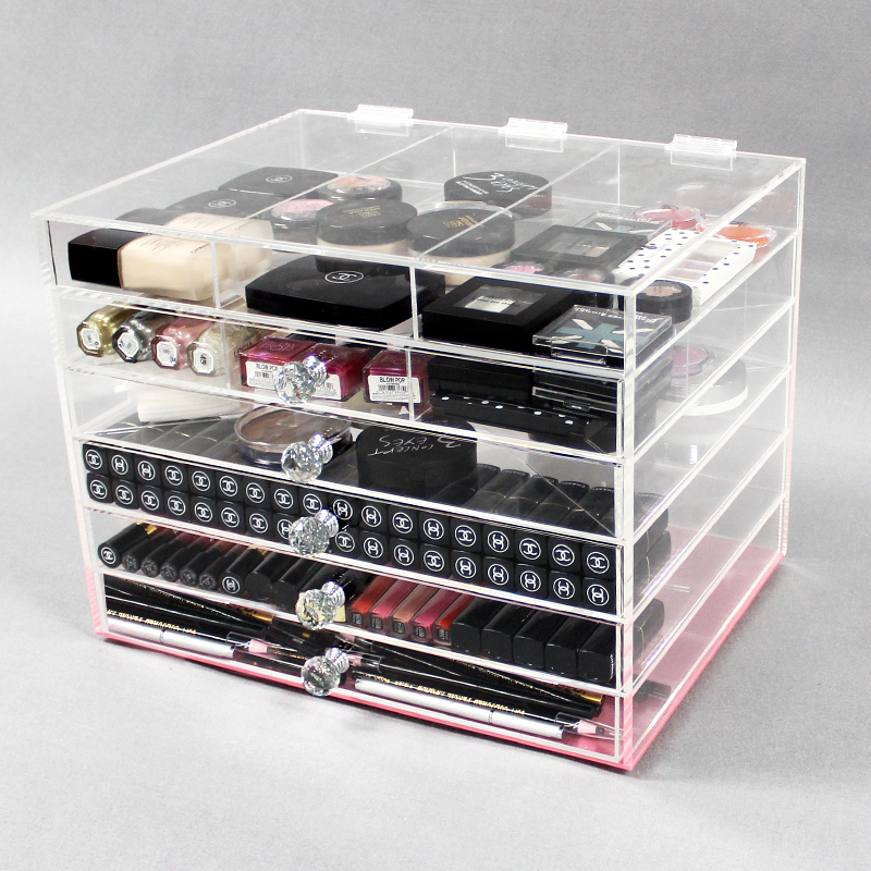 A 4or0039 Clear Acrylic Makeup Storage Organizer Cube