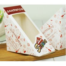 PVC Window Triangle Sandwich Packing Kraft Paper Lunch Box