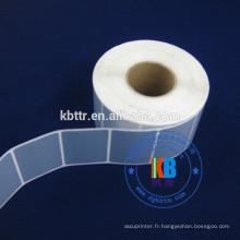 Type d'étiquette adhésive étiquette imprimée code à barres étiquette en polyester argenté mat
