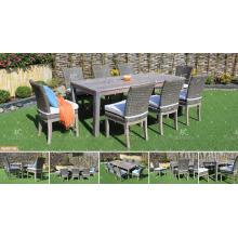 COLECCIÓN de CANARY - 2017 Mesa y sillas al aire libre de mimbre de los muebles de jardín de la nueva rota del diseño