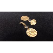 New Korean Luxury Special Texture Gold Round Earrings Women Fashion Earrings