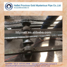 ASTM A179 Seamless Steel Pipe With plastic cap painted words