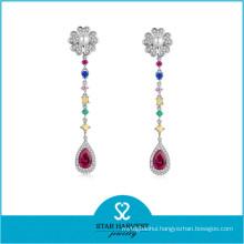 Elegant Stylish Wholesale Silver Rhodium Gemstone Jewelry (E-0264)