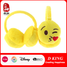 Cute Kiss Emoji Earmuff Custom orejeras ajustables