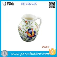 800ml Beautiful Flower Decorative Ceramic Milk Jug