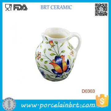 Jarra de leche de cerámica decorativa hermosa flor 800ml