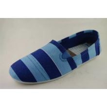 New Fashion Style Cheap Ladies Slip-on Injection Canvas Shoes (NU012-1)