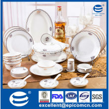 luxury dinnerware set for 12 person used golden tableware new bone china