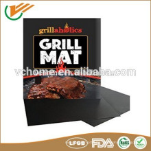 Freie Probe Non-Stick BBQ Grill Mat, Easy Clean, wiederverwendbar, Spülmaschinenfest, Vielseitig einsetzbare Glasfaser-beschichtete Teflon ptfe
