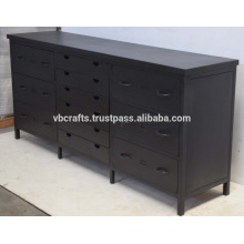 Industrial Metal Multidrawer Cabinet Matt Schwarz Farbe