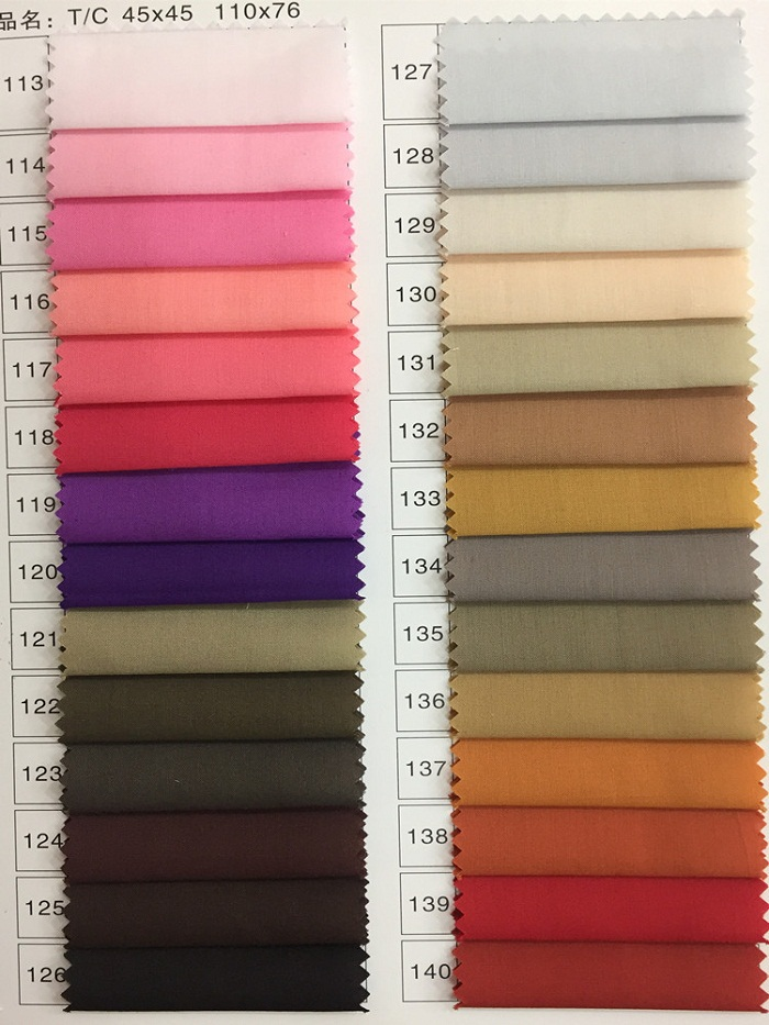 Polyester Cotton Dyed Shirt Fabric