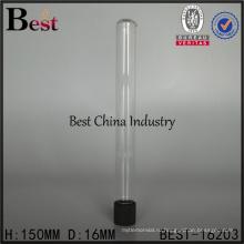 ясные изготовленные на заказ Размер стеклянная бутылка Корк 50мл 100мл медицинской химической промышленности круглодонные пробирки с винтовыми крышками