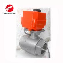 cierre automáticamente la válvula de bola motorizada ss304 CTF-001 10nm