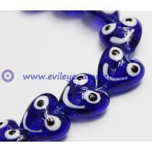 Turkish evil smiley heart-shaped eye beads