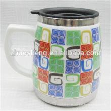 New Style Produkt Lose kaufen aus China Werbe Keramik Kaffeebecher mit Griff