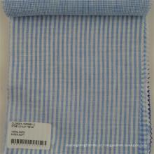 tecido de linho respirável profissional para o tecido de linho da listra da camisa