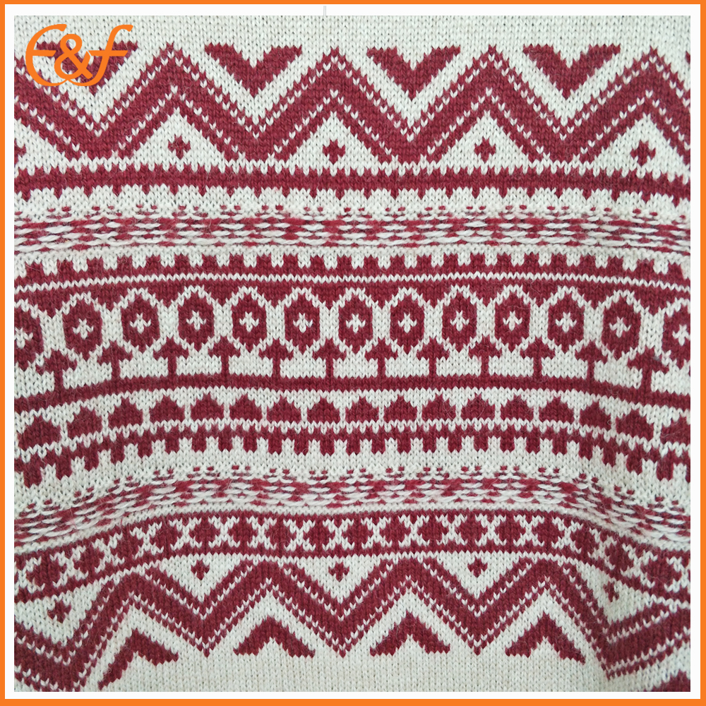 Sweater merino wool jacquard pattern