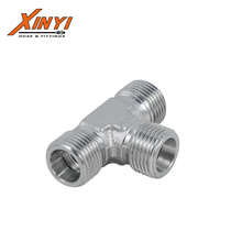 Equal Tees Metric 24 Cone Seat  Hydraulic Adapter
