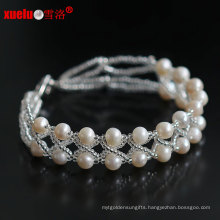 Double Strands 100% Natural Freshwater Pearl Bracelets Jewelry 2015 New Style for Women′s Gift