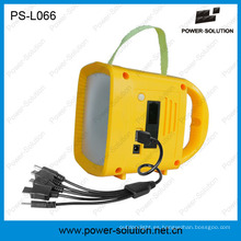 La mejor luz solar recargable para acampar al aire libre con el cargador solar móvil de la radio MP3