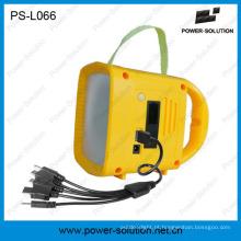 Melhor luz solar recarregável para acampamento ao ar livre com carregador solar móvel do rádio MP3