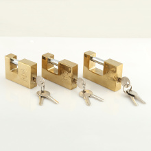 High Quality Gold Plated Rectangular Padlock with 3 Type S Key