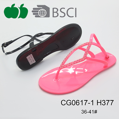 Hot Sale Trendy Fashion Designed Cheap Ladies Fancy Jelly Sandals