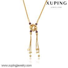 43083-fábrica de jóias de moda 18k colar de ouro africano frisado