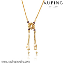 43083- Xuping Jewelry Fashion 18K chapado en oro collar para mujer