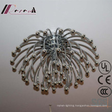 Fireworks Shape Stainless Steel Ceiling Lamp for Hotel Project