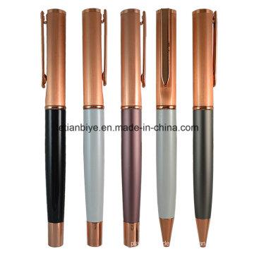 Fabrik Preis Rose Gold Metall Kupfer Stift mit Logo (LT-C450)