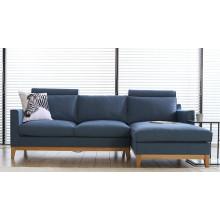 Móveis de sala de estar moderna 1 + 2 + 3 Set de sofá de tecido