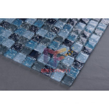 Blue Crystal Cracked Glass Mosaic Tile (CC164)