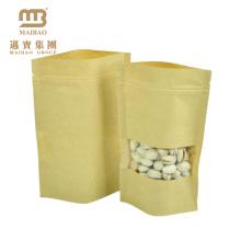 индивидуальные коричневый крафт упаковки пищевых продуктов бумажные мешки с окном в передней для чая
