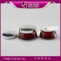 Alta qualidade vermelho Acrílico Creme Face Frascos Cosméticos
