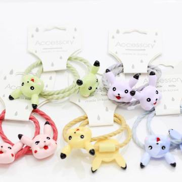 New Fashion Cartoon Baby Children Girls Little Princess Cartoon Elastic Hair Ties Head Hair Tie Bands Ropes Girls Ponytail