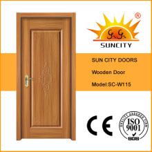 Porta principal luxuosa de madeira contínua do projeto mais novo (SC-W115)