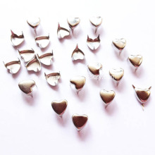 6mm Nickle Heart-Shaped Studs, Small Heart Nailhead